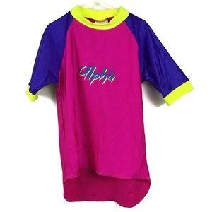 NWT Alpha Australia Rash Guard Top Girls 10 SPF100